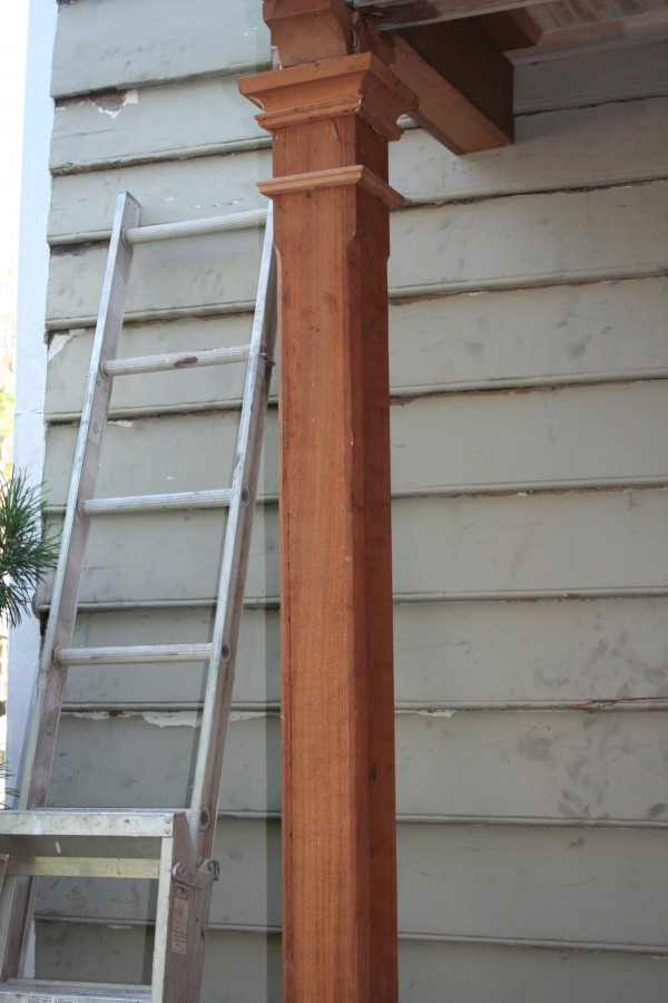 Wood Posts And Columns : Reproduction of railings wood columns and porch parts