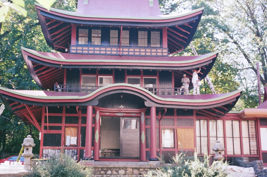 Paint Restoration of Japanese Pagoda