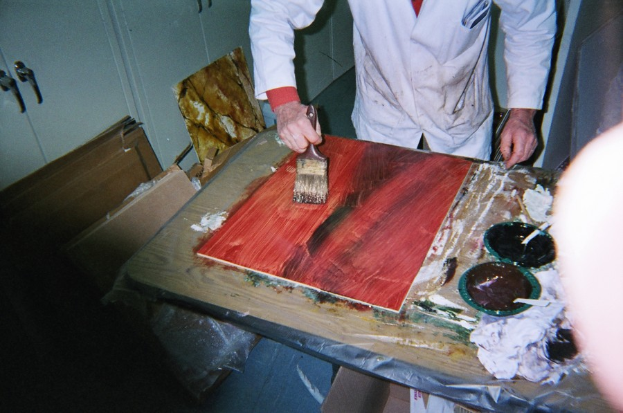 Faux Wood Graining Process
