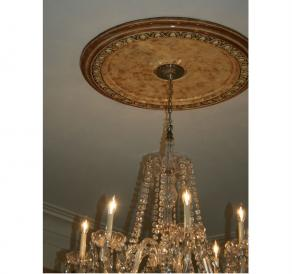 Faux Marble Chandelier Medallion