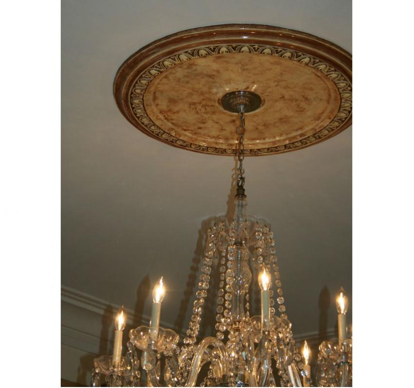 Faux marble plaster medallion for chandelier faux marble chandelier medallion aloadofball Image collections