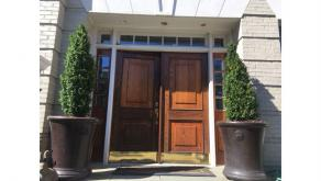 Mahogany Double Front Door Replacement