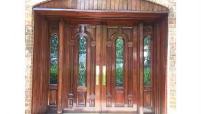 Mahogany Door Strip and Refinish